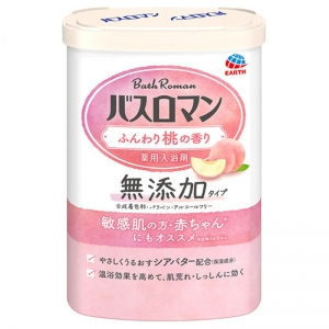 Earth Seiyaku Bath Roman Medicinal bath salt additive-free type Soft peach scent 600g